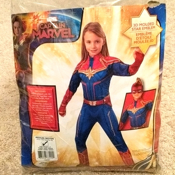 Marvel's Captain Marvel costume size 8 medium